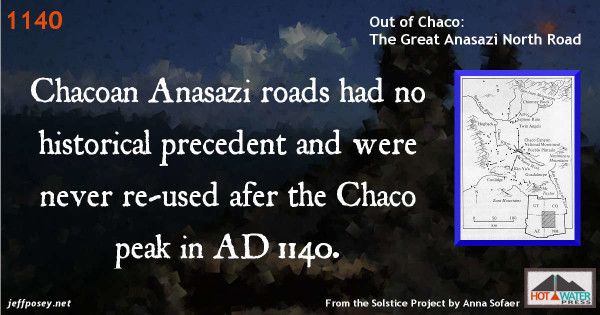 """The Great North Road: a Cosmographic Expression of the Chaco Culture of New Mexico,"" by Anna Sofaer, Solstice Project; Michael P. Marshall, Cibola Research Consultants, Corrales, New Mexico; and Rolf M. Sinclair, National Science Foundation, Washington, DC."
