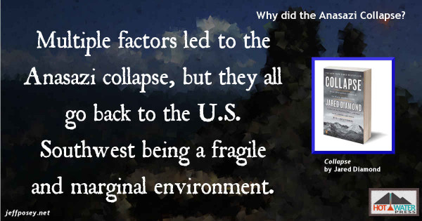 The U.S. Southwest is a marginal environment for agriculture at best, from Collapse: How Societies Choose to Fail or Succeed, by Jared Diamond