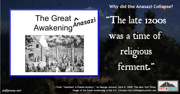 """Religious and political ferment may have brought the Anasazi down, from """"Vanished: A Pueblo Mystery,"""" by George Johnson, April 8, 2008, The New York Times"""